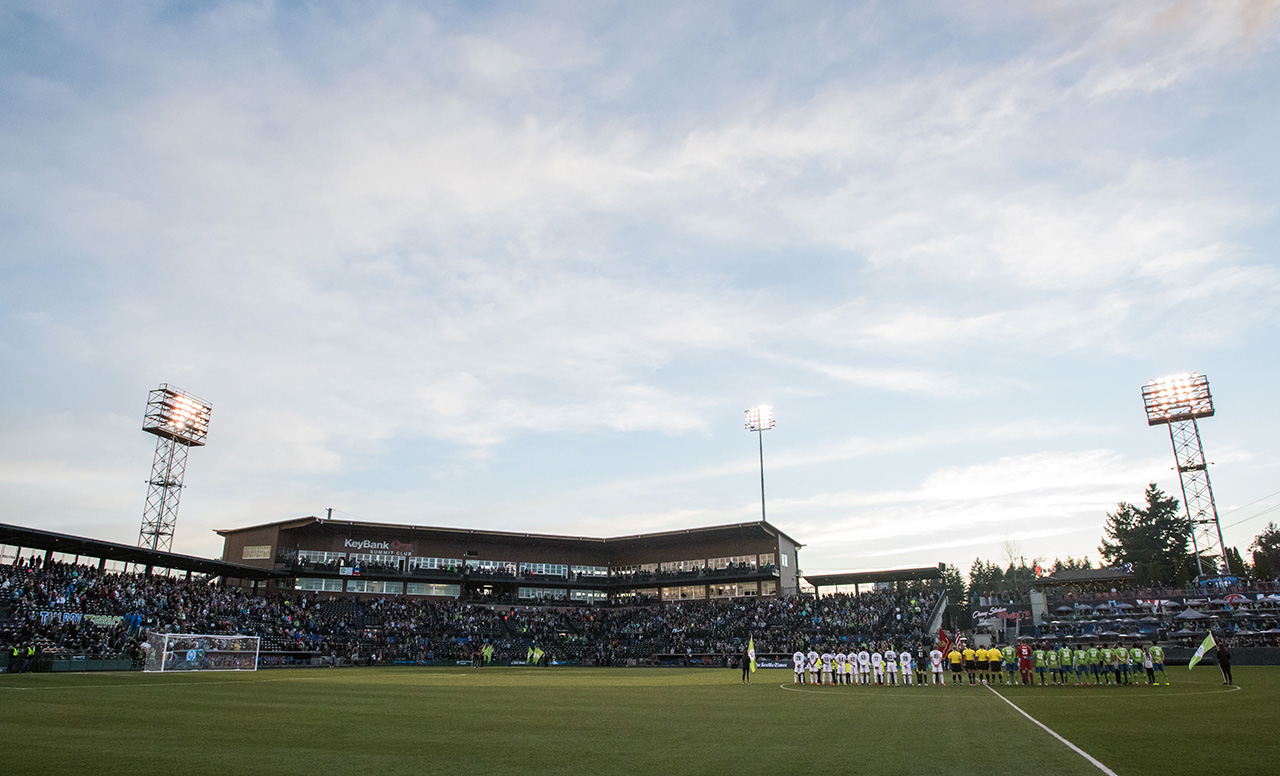 Reign FC vs Chicago Red Stars Rally - Bus to Cheney Stadium in Tacoma, WA