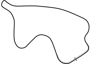 Canadian Tire Motorsport Park Track Silhouette