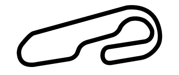 Gateway Motorsports Park Track Silhouette